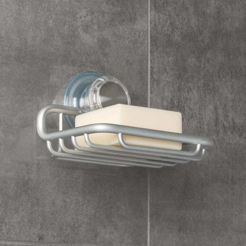 Jabonera para pared con succión especial Interdesign