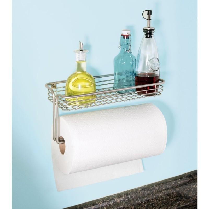 Porta papel y especias de pared para cocina Classico Satinado Interdesign