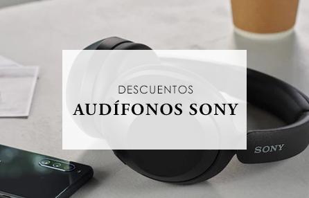 Descuentos en audífonos SONY